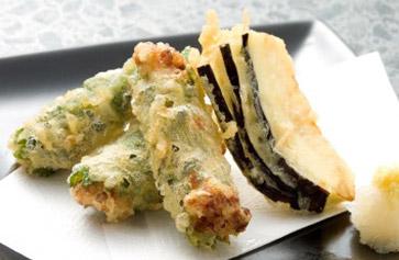 納豆しそ巻き天ぷら